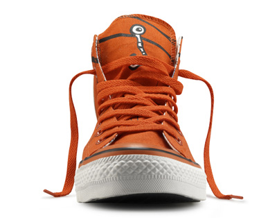 orange shoe Al treilea pantof