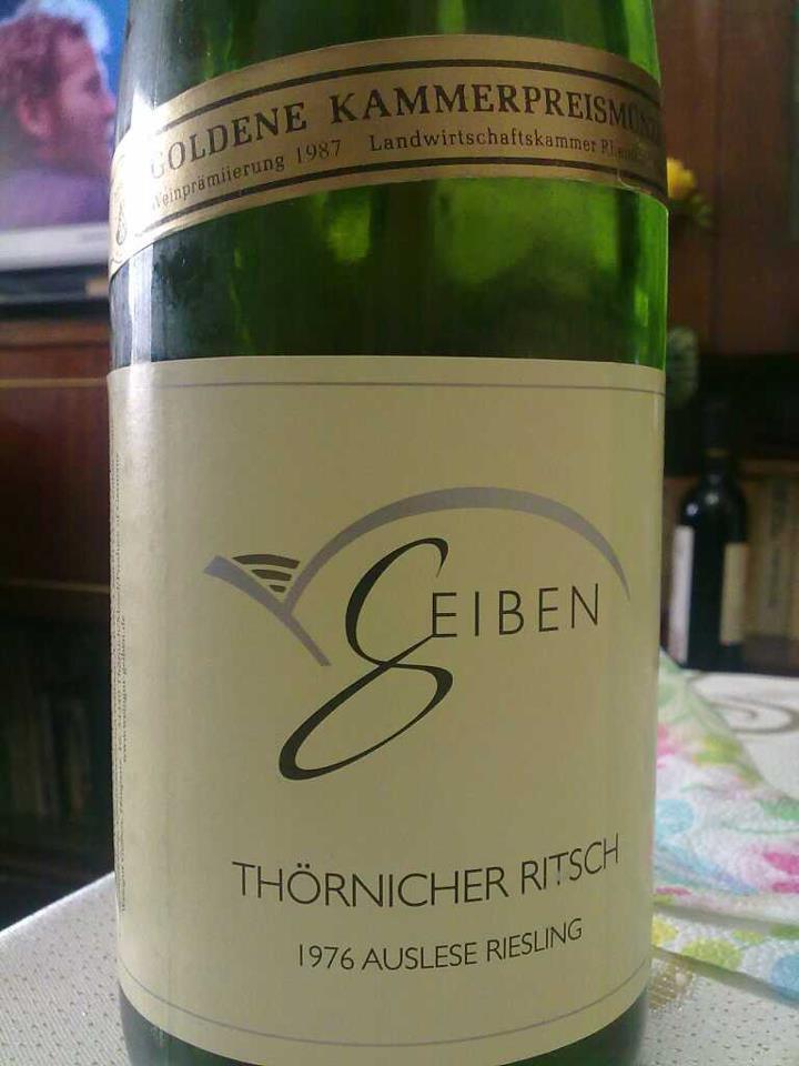 riesling 76 Weingut Geiben Riesling Thornicher Ritsch Auslese 1976
