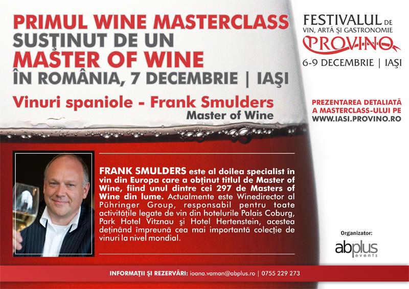 masterofwine (P) Frank Smulders, Master of Wine vine la Provino Iasi