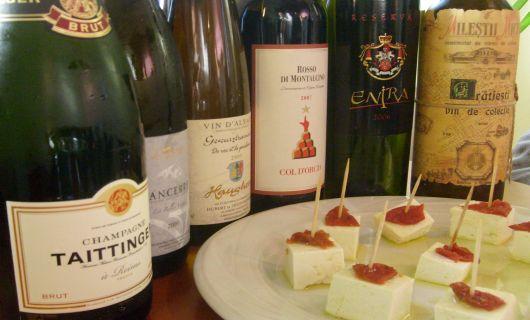 Intalnire cu vinuri si branzeturi